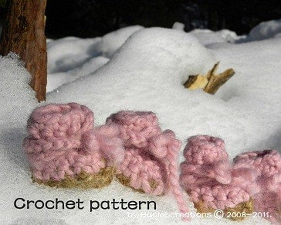 Free Crochet Pattern For Small Dog Booties : Snow Dog Booties Crochet Pattern PDF the Ugg by ...