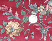 RESERVED FOR THERESE                  New Floral Fabric. Jinny Beyer. Burgundy Red. Floral. Quilt. Fashion.
