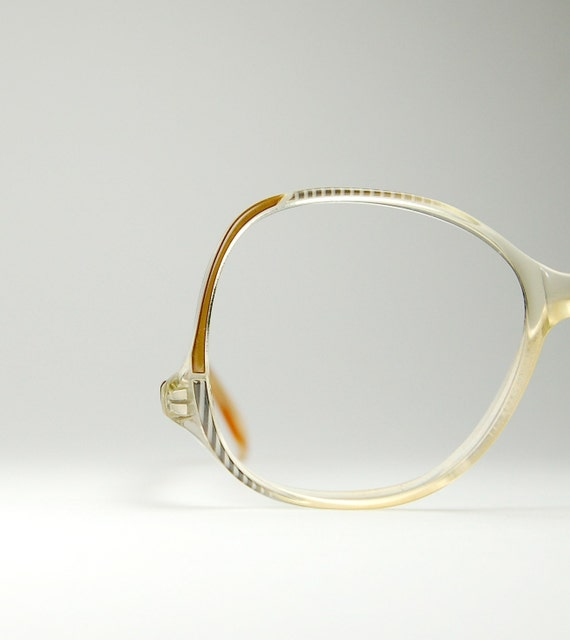 Vintage RODENSTOCK Eyeglass Frames with Snake Skin  Pattern and Drop Temple for Lady R