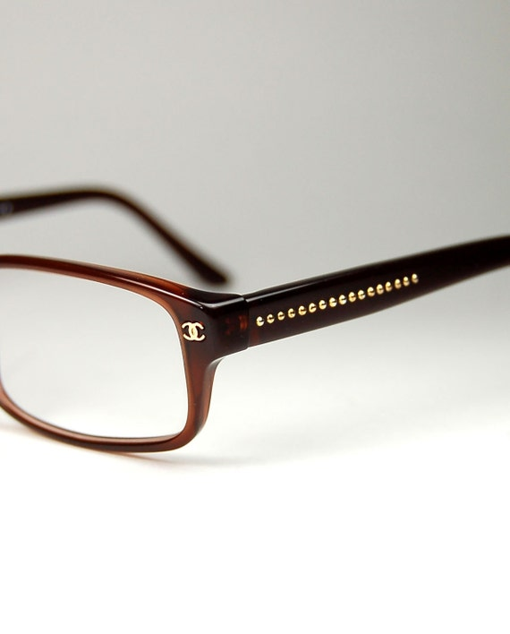 Chanel Glasses Frame Usa : Authentic Vintage CHANEL Unisex Eyeglass Frames made in Italy