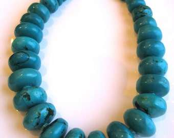 Chinese Turquoise Rondelle Necklace