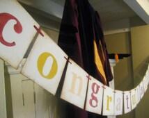 graduation decorations Customizable CONGRATULATIONS banner swag garland