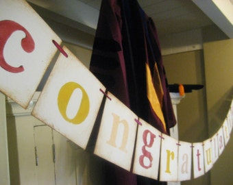 graduation decorations Customizable CONGRATULATIONS banner swag garland