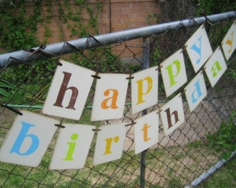 Birthday Decoration Retro HAPPY BIRTHDAY Banner