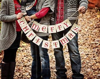 Christmas Banner MERRY CHRISTMAS