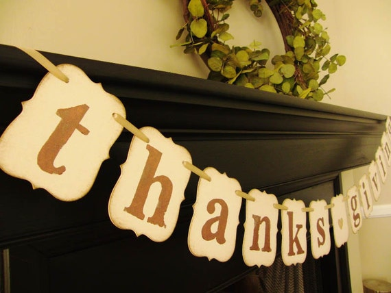 thanksgiving decorations, sign, banner, hostess gift