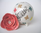 Byzantine Dream Bud Vase with Everlasting Bloom