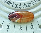 Brazil sardonyx semi precious oval focal beads or pendants