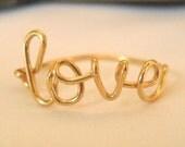 Love ring, Name ring,  Bridesmaid gift, love ring, name ring, sister gift