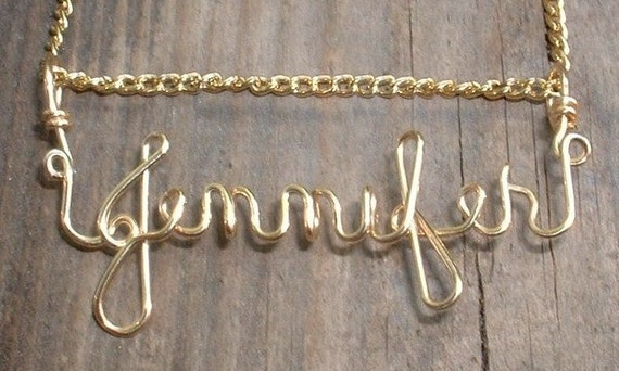 Gold filled name charm, Name Necklace, Bridesmaid gift, sister gift, Personalized, Christmas gift