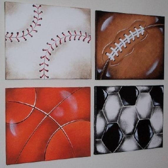 Messy Bedroom Art Sports Bedroom Paint Ideas Jamestown Blue Bedroom Disney Frozen Bedroom Paint Colors: Items Similar To SPORTS BALLS Wall Art Paintings 16X20 In