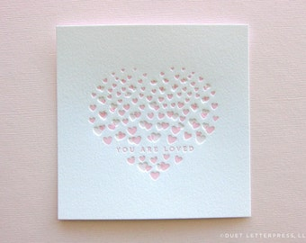 letterpress heart print