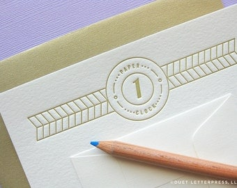 letterpress first anniversary card