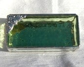 Pale Green Stained Glass Box 2x4x1