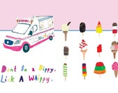 A3 poster.Dont be a dippy,lick a whippy.