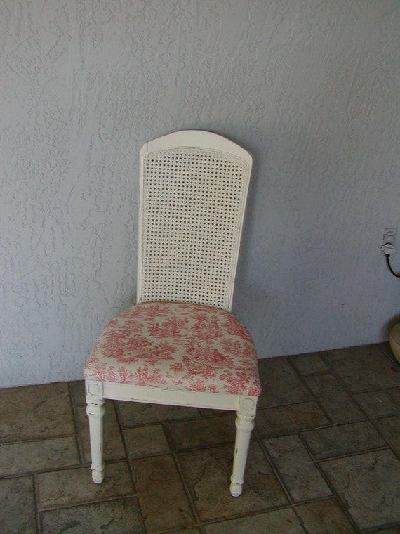 Shabby Chic Rocking Chair Pads : Shabby Cottage Chic Chair with Toile Seat Cushion by onlinechic