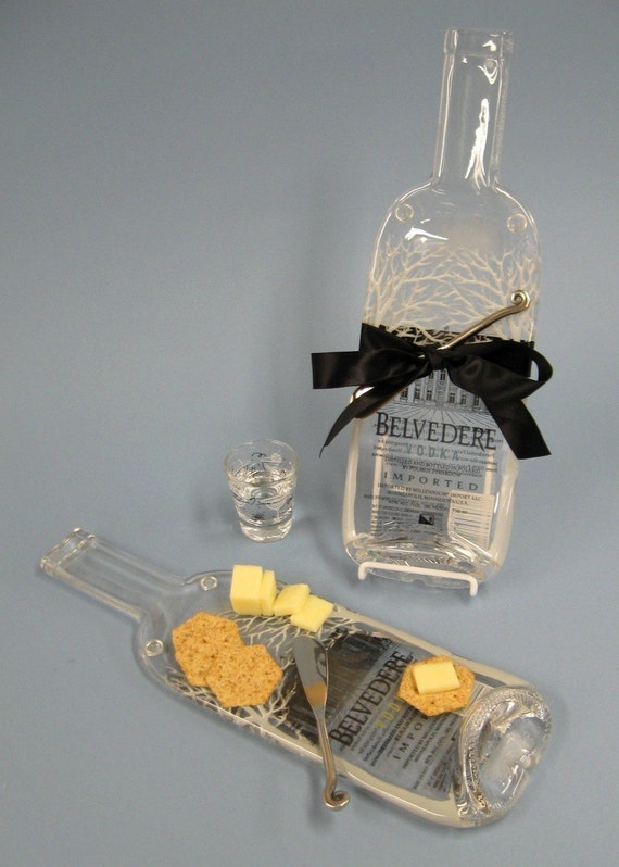 Belvedere Vodka Melted Bottle Cheese Tray