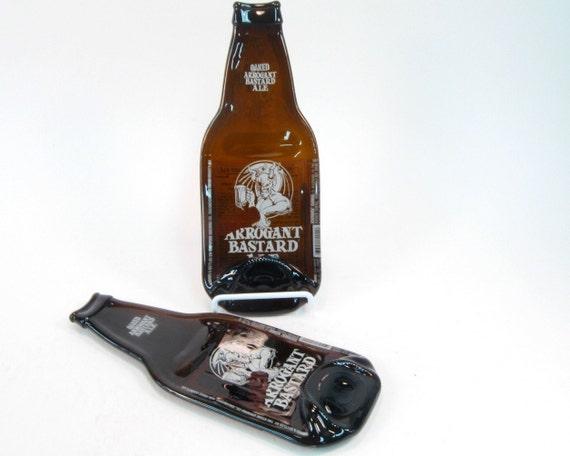 Arrogant Bastard Ale Beer Spoon Rest Housewarming for Him Guy Gift Melted Bottle
