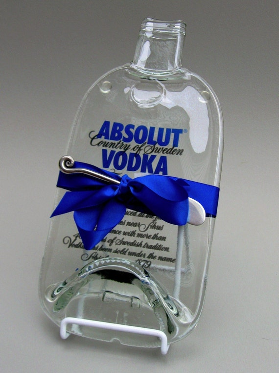 Recycled Glass Bottle Cheese Tray Large Absolut Eco Friendly