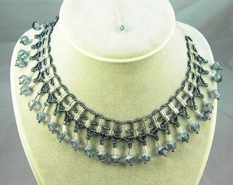 pewter ladder st. necklace