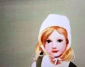 Doll / Print - girl PORTRAIT ART PRINT-fine art paper