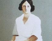 Alida / Print of original drawing-PORTRAIT ART PRINT