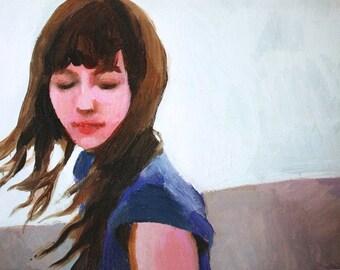 I always have time - art print - portrait woman print