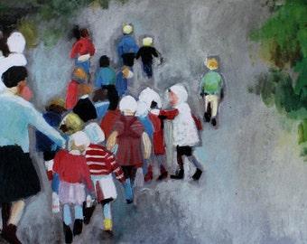 Kindergarten / Big  print -  PRINT ART painting