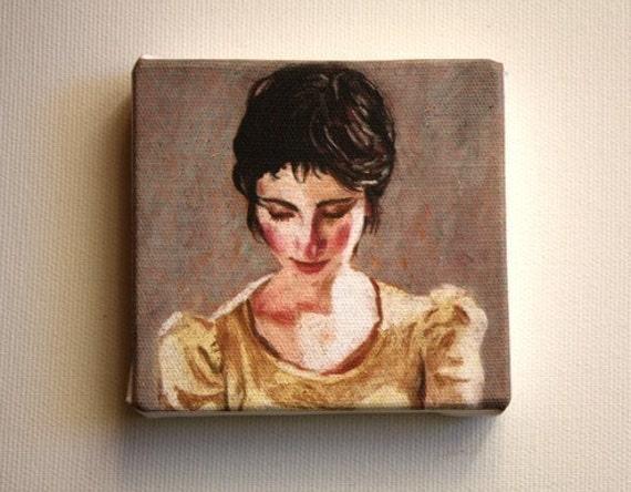 Naomi / Tiny canvas print - mounted print - wall art prints