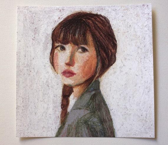 Sarah / Big print  / This is a print of a pastel drawing , wall art- art decor -  woman PORTRAIT ART PRINT