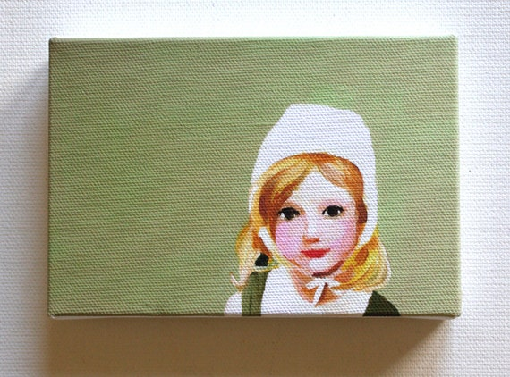 Doll / Tiny canvas print -child art canvas print-Fine Art Print of small girl-Wall hanging prints