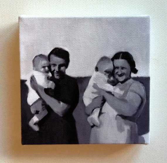 Two parts / Tiny canvas  print
