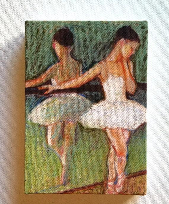 Ballet dancer / Tiny canvas print -CANVAS ART PRINT