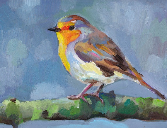 Songbird / ORIGINAL PAINTING / bird painting