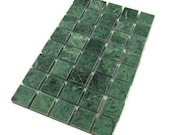 Marble Mosaic Tiles - Dark Green with 6 Patterns Marbre De Vert Fonce
