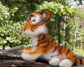 Needle Felted Tiger Begal Soft Sculpture