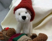 Needle Felted Dog Maltese Wool Puppy Sculpture