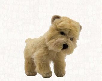 Needle Felted Dog Cairn Terrier Wheaten Custom