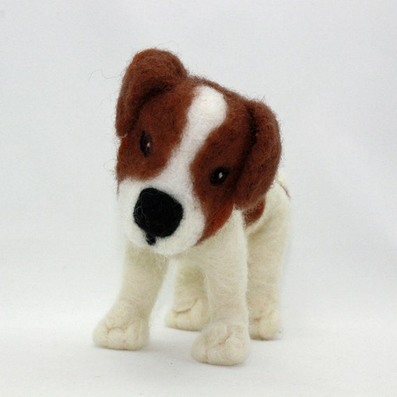Needle Felted Dog Jack Russell Terrier Sculpture