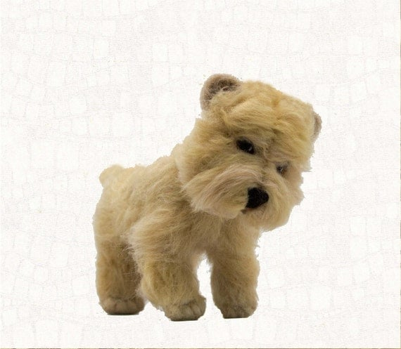 Needle Felted Dog Cairn Terrier Wheaten Custom