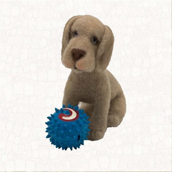 Needle Felted Dog  #EtsyGifts Weimaraner Puppy Animal Sculpture