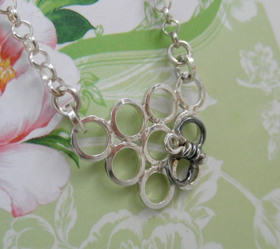 Honey Bee Sterling Silver Necklace. One of a Kind. OOAK