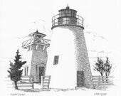 Piney Point Lighthouse - print