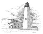 New Point Comfort Lighthouse - print