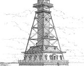 Craighill Channel Lower Range Lighthouse - print