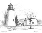 Pooles Island Lighthouse - print
