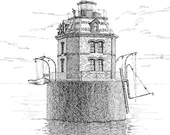 Sandy Point Lighthouse - print