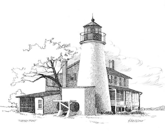 Turkey Point Lighthouse - print