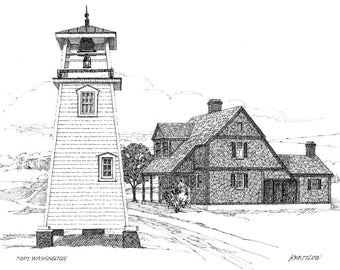 Fort Washington Lighthouse - print
