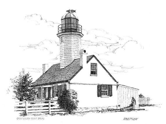 Greenbury Point Lighthouse - print